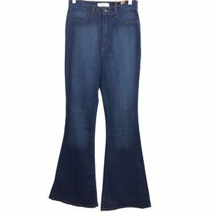 Vibrant M.I.U Wide Leg Flare Highrise Stretch Jean